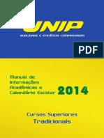 Manual de Informações Acadêmicas e Calendário Escolar 2014 - Tradicional