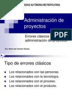 AdmProy Errores Clasicos