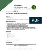 Informe de laboratorio N°2 Física I