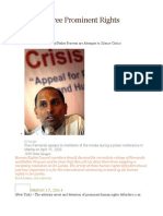 Sri Lanka Free Prominent Rights Defenders