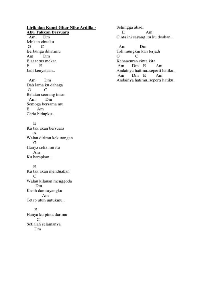Chord Lagu Nike Ardila