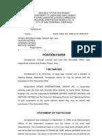 Horn Complainant Position Paper 1
