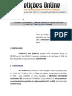 Contrato de Honorários Advocatícios com Cláusula Quota Litis
