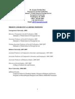 Jacques Berlinerblau's CV