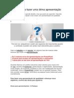 10 dicas para fazer uma ótima apresentação