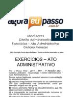 AEP - EXERCÍCIOS 2 - ATO ADMINISTRATIVO