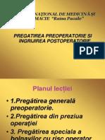 pregatirea preoperatorie,postoperatorie