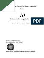 1.10-Historia Del Movimiento Obrero Argentino-Tomo 1(Stmsi-2005)