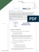 Anatomy Mnemonics 2