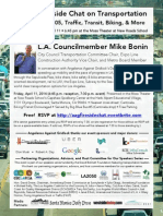 Fireside Chat With Councilmember Mike Bonin (Flyer)