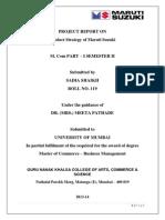 Product Strategy of Maruti Suzuki