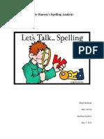 spelling analysis