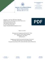 Rick Nolan comments on PolyMet Draft Supplemental Draft Environmental Impact Statement