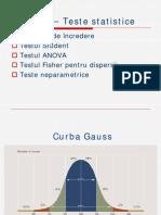 Biostatistica  - Cursul 7 - Teste Statistice