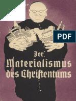 Berger, H. - Der Materialismus des Christentums - Das wahre Gesicht der katholischen Kirche (1937)