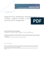 Integracion Inmigrantes Latinoamericanos Canada