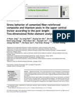 11.Stress Behavior of Cemented Fiber-reinforced Composite and Titanium Posts in the Upper Central Incisor According to the Post Length-Two-Dimensional Finite Element Analysis
