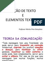 noções de texto e elementos textuais