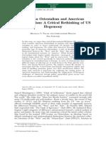 A Critical Rethinking of US Hegemony