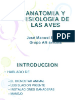 Anatomia y Fisiologia de Las Aves