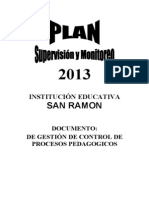 Plan Supervisin Monitor Eo 2013