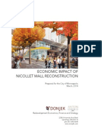 Nicollet Mall Economic Impact Study