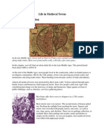 life in medieval towns text