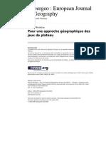 Wwwcybergeoeu 22466 Pour Une Approche Geographique Des Jeux de Plateau