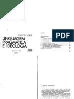 Vogt (Linguagem, pragmática e ideologia)