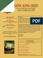 Alumni Spring Newsletter 2014