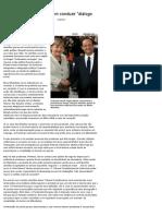 Alemanha e França parecem conduzir _diálogo de surdos_ diante da crise - Le Monde - UOL Notícias