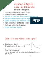 Classification of Signals Part 1