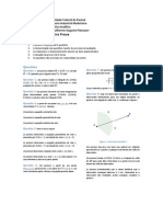 Prova 1 de Geometria Analítica - Eng. Ind. Mad. / BCC / IBM - UFPR