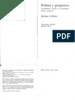Wolin - Politica y Perspectiva