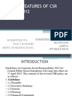 Salient Features of Csr Policy 2012