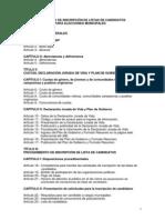 Proyecto Reglamento Elecciones Municipales