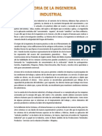 Historia de La Ingenieria Indudstrial y de Metodos