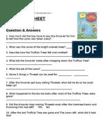 Dr. Seuss The Lorax Worksheet - Lesson Plan