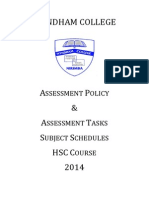 HSC Assessment Booklet 2014