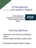 Health Management Information System in Nigeria