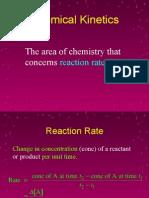 Kinetics-chemical