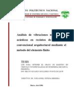 TESIS, Analisis de Vibraciones Mediante FEM