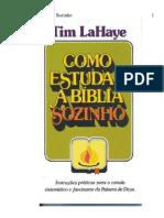 Como estudar a Bíblia Sozinho -Tim-Lahaye