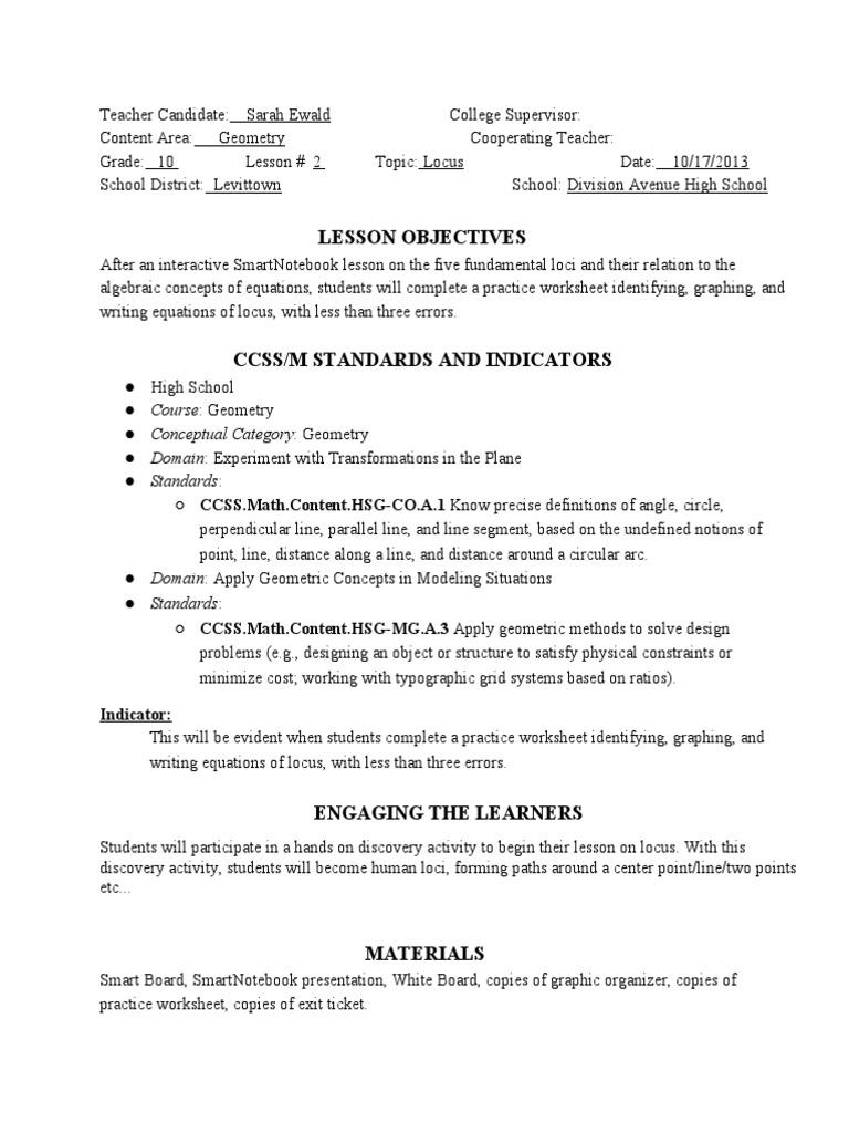 Locus Geometry Worksheet Gallery - worksheet for kids maths printing