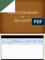 Video Diagrama de Gantt