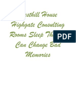 Westhill House Highgate Consulting Rooms Sleep Therapy Can Change Bad Memories