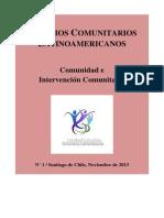 Estudios Comunitarios Latinoamericanos. Comunidad e Intervención Comunitaria