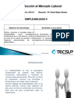 11.- Emplabilidad II