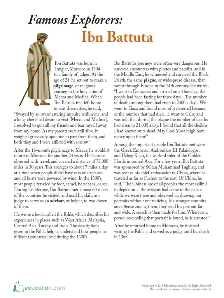 worksheet Ibn Battuta Worksheet ibnu battuta abrahamic religions religion and belief