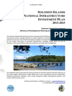 Solomon Islands National Infrastructure Investment Plan - Summary Paper